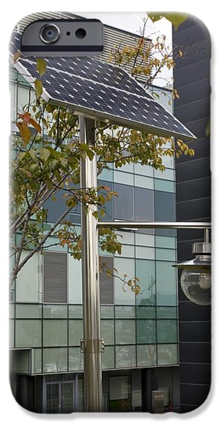 Solar-powered Street Light In Daejeon iPhone Case by Mark Williamson
