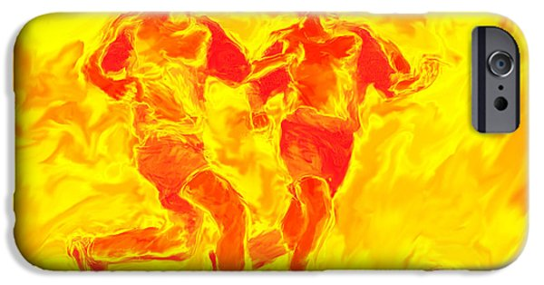Nike iPhone Cases - Solar Soccer iPhone Case by Stephen Younts