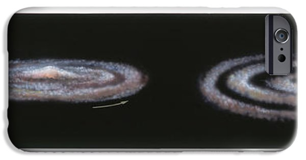 Disc iPhone Cases - Solar System Formation iPhone Case by Gary Hincks