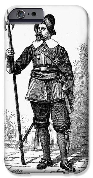 Breastplate iPhone Cases - SOLDIER, 17th CENTURY iPhone Case by Granger