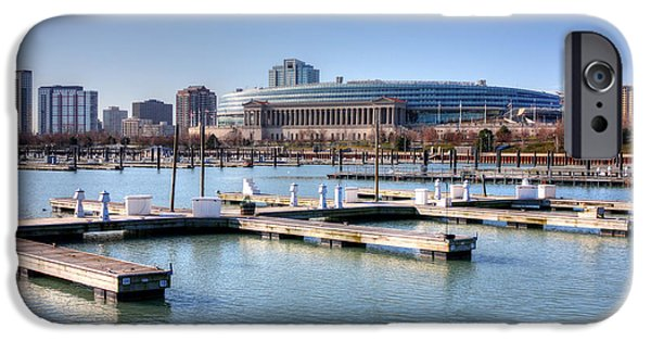 Soldier Field iPhone Cases - Soldier Field - East Side iPhone Case by David Bearden