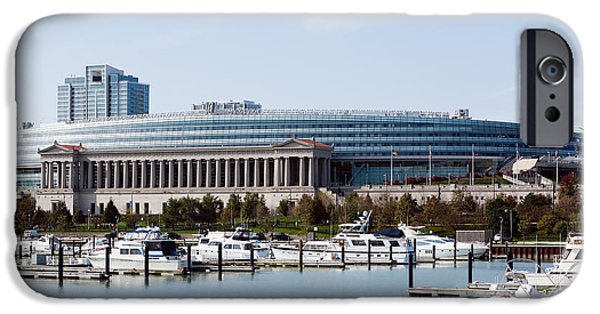 Soldier Field iPhone Cases - Soldier Field Chicago iPhone Case by Paul Velgos