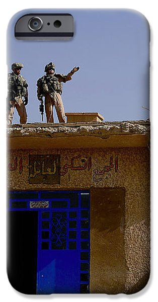 Soldiers Discuss The New Iraqi Police iPhone Case by Stocktrek Images
