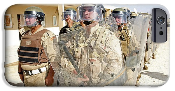 Law Enforcement iPhone Cases - Soldiers From The 7th Iraqi Army iPhone Case by Stocktrek Images