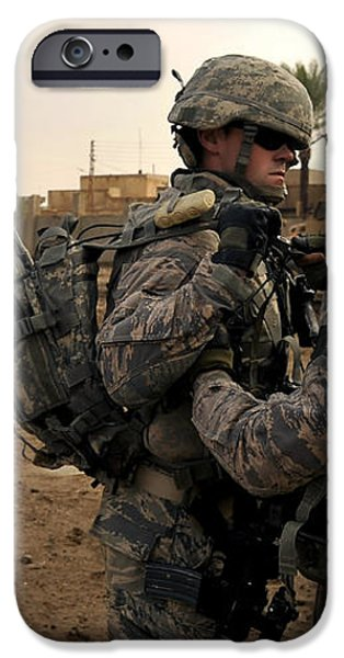 Soldiers Help One Another iPhone Case by Stocktrek Images