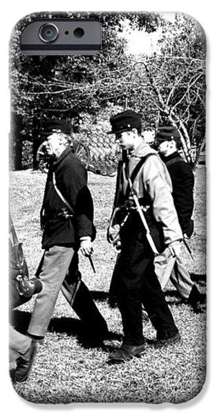 Soldiers March Black and White II iPhone Case by LeeAnn McLaneGoetz McLaneGoetzStudioLLCcom