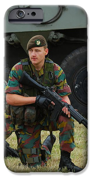Soldiers Of An Infantry Unit iPhone Case by Luc De Jaeger
