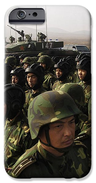 Soldiers With The Peoples Liberation iPhone Case by Stocktrek Images