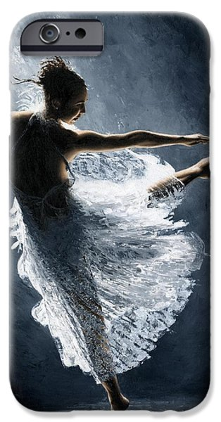Ballerina Artwork iPhone Cases - Solitaire iPhone Case by Richard Young