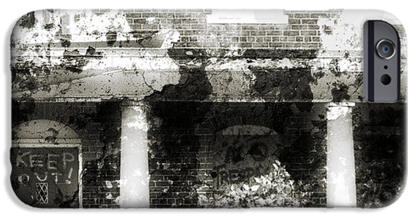 Haunted House Mixed Media iPhone Cases - Solitary iPhone Case by Richard Rizzo