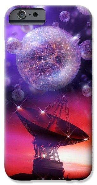 Solving The Universe's Mysteries, Artwork iPhone Case by Detlev Van Ravenswaay