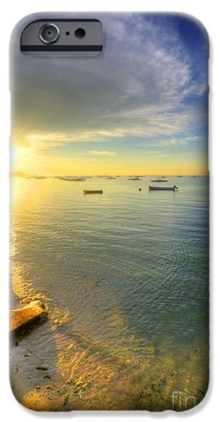Island Stays iPhone Cases - Some Days Stay Gold Forever iPhone Case by Yhun Suarez