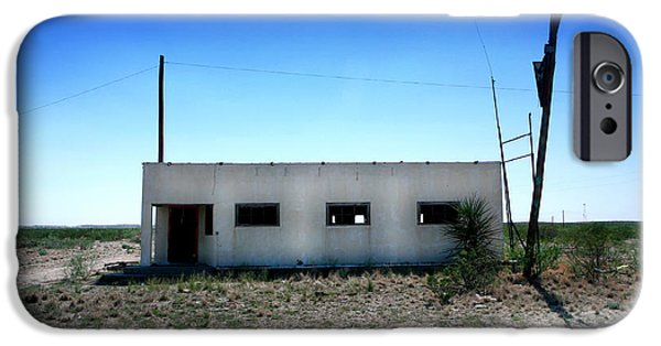 Old Bus Stations Photographs iPhone Cases - Somewhere on the Old Pecos Highway Number 1 iPhone Case by Lon Casler Bixby