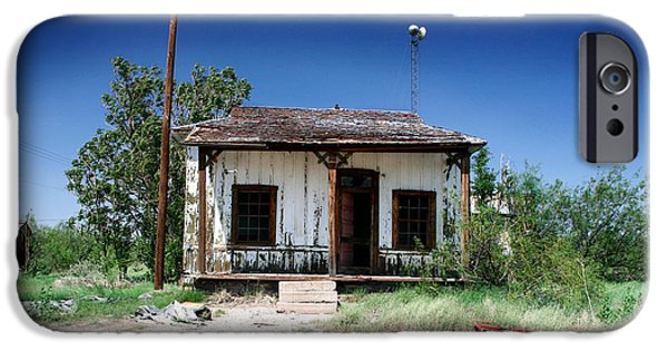 Old Bus Stations Photographs iPhone Cases - Somewhere on the Old Pecos Highway Number 3 iPhone Case by Lon Casler Bixby