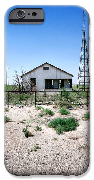 Old Bus Stations Photographs iPhone Cases - Somewhere on the Old Pecos Highway Number 5 iPhone Case by Lon Casler Bixby
