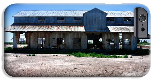 Old Bus Stations Photographs iPhone Cases - Somewhere on the Old Pecos Highway Number 6 iPhone Case by Lon Casler Bixby