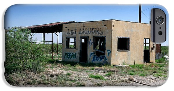 Old Bus Stations Photographs iPhone Cases - Somewhere on the Old Pecos Highway Number 7 iPhone Case by Lon Casler Bixby