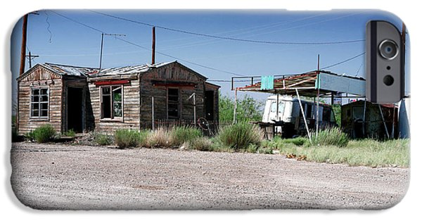 Old Bus Stations Photographs iPhone Cases - Somewhere on the Old Pecos Highway Number 8 iPhone Case by Lon Casler Bixby