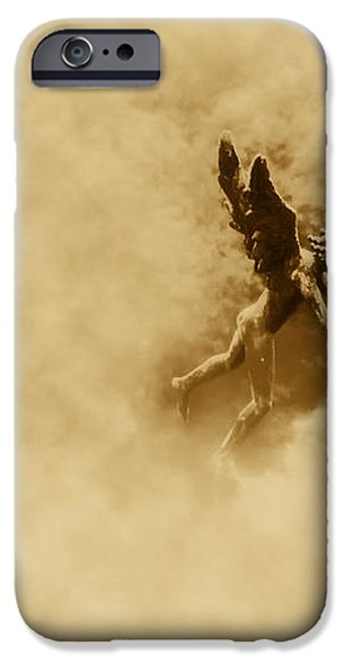 Song of the Angels in Sepia iPhone Case by Bill Cannon