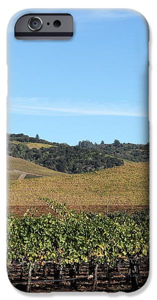 Sonoma Vineyards - Sonoma California - 5D19309 iPhone Case by Wingsdomain Art and Photography