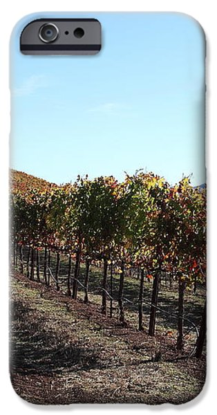 Sonoma Vineyards - Sonoma California - 5D19311 iPhone Case by Wingsdomain Art and Photography