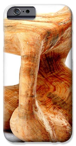 Abstract Sculptures iPhone Cases - Sorprendido 3 iPhone Case by Jorge Berlato
