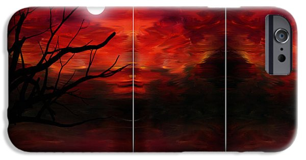 Trees At Sunset iPhone Cases - Soul Observer iPhone Case by Lourry Legarde
