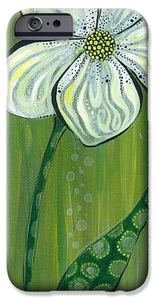 Nature Center Paintings iPhone Cases - Soulful iPhone Case by Tanielle Childers