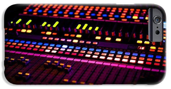 Slider Photographs iPhone Cases - Soundboard iPhone Case by Anthony Citro