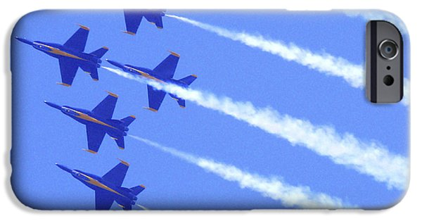 Sour iPhone Cases - Souring with the Blue Angles iPhone Case by Mike McGlothlen