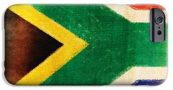 Patriotism iPhone Cases - South Africa flag iPhone Case by Setsiri Silapasuwanchai
