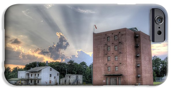 Fire Digital Art iPhone Cases - South Carolina Fire Academy Tower iPhone Case by Dustin K Ryan