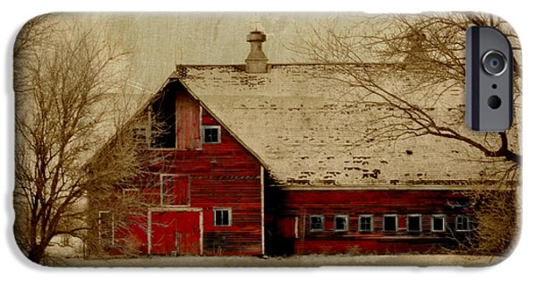 Shed Digital Art iPhone Cases - South Dakota Barn iPhone Case by Julie Hamilton