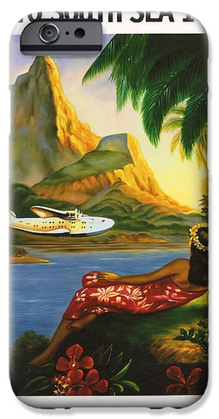 Holiday Digital Art iPhone Cases - South Sea Isles iPhone Case by Nomad Art And  Design