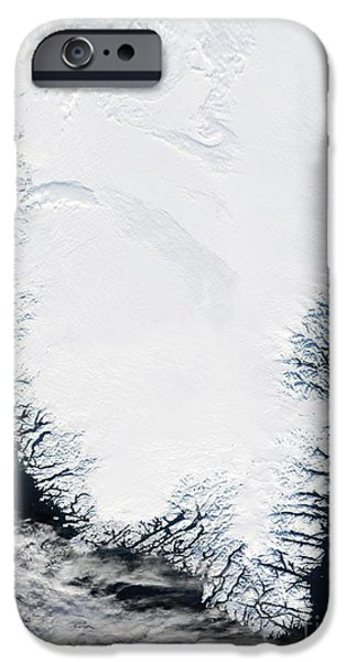 Phytoplankton iPhone Cases - Southern Greenland iPhone Case by NASA / Science Source