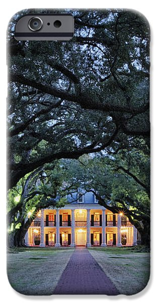Southern Manor Home at Night iPhone Case by Jeremy Woodhouse