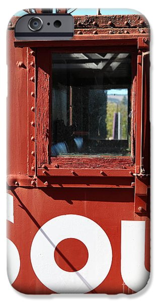 Southern Pacific Caboose - 5D19235 iPhone Case by Wingsdomain Art and Photography