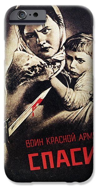 Discrimination iPhone Cases - Soviet Poster, 1942 iPhone Case by Granger