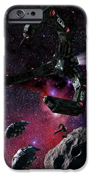 Intergalactic Space iPhone Cases - Space Scene Inspired By The Novels iPhone Case by Rhys Taylor
