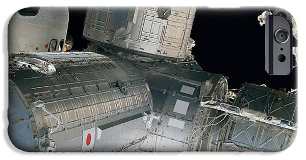 Component iPhone Cases - Space Shuttle Discovery And Components iPhone Case by Stocktrek Images