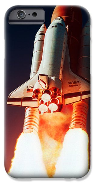 Space-craft iPhone Cases - Space Shuttle Launch iPhone Case by Nasa