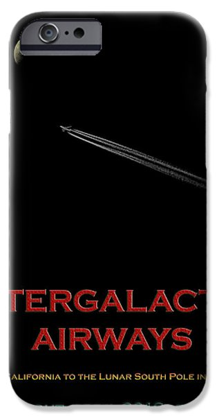 Intergalactic Space iPhone Cases - Space Travel Poster iPhone Case by Andrew Fare