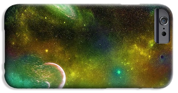 Solar Eclipse Digital iPhone Cases - Space001 iPhone Case by Svetlana Sewell