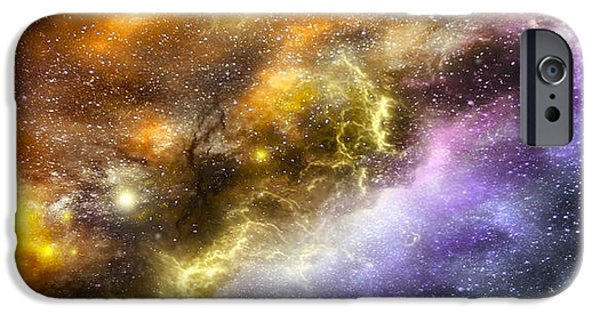 Solar Eclipse iPhone Cases - Space005 iPhone Case by Svetlana Sewell