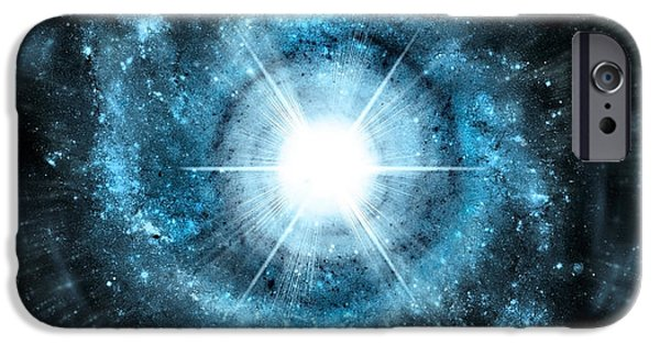 Solar Eclipse Digital iPhone Cases - Space006 iPhone Case by Svetlana Sewell