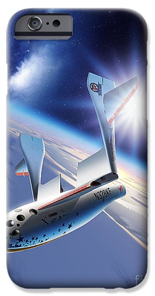 21st Century iPhone Cases - SpaceShipOne Re-Entry iPhone Case by Detlev van Ravenswaay and Photo Researchers