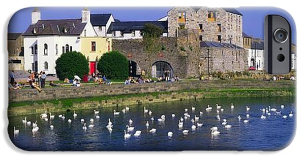 Swans... iPhone Cases - Spanish Arch, Galway City, Co Galway iPhone Case by The Irish Image Collection