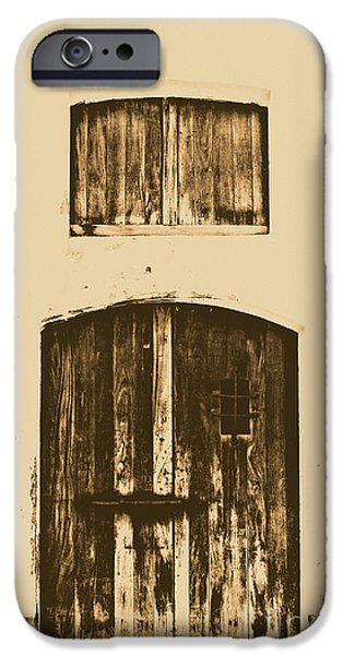 Spanish Fort Door Castillo San Felipe Del Morro San Juan Puerto Rico Prints Rustic iPhone Case by Shawn O'Brien