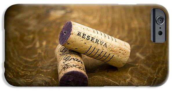 Vino Photographs iPhone Cases - Spanish wine corks - Reserva and Gran Reserva iPhone Case by Frank Tschakert