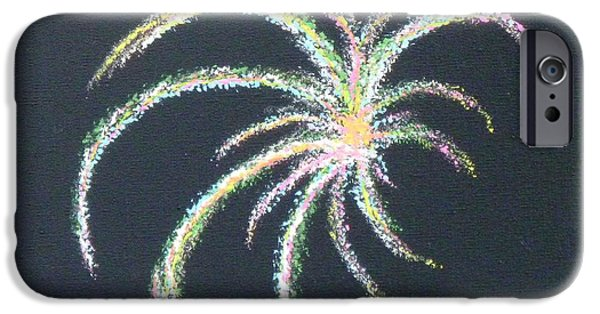 4th July Paintings iPhone Cases - Sparkler iPhone Case by Alys Caviness-Gober